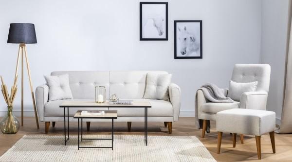 Fi Cappy Sofa Set Cream