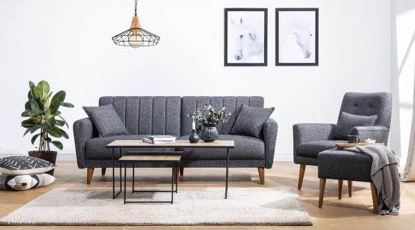 Fi Line Sofa Set Anthracite