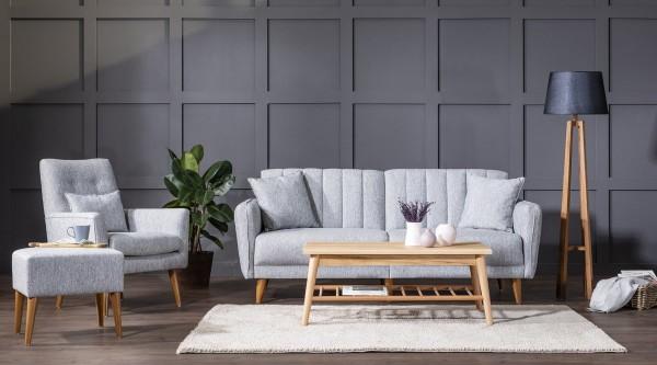 Fi Line Sofa Set Grey