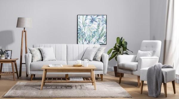 Fi Line Sofa Set Cream