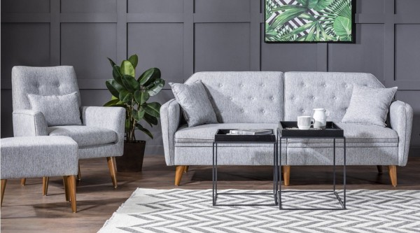 Fi Mina Sofa Set Grey