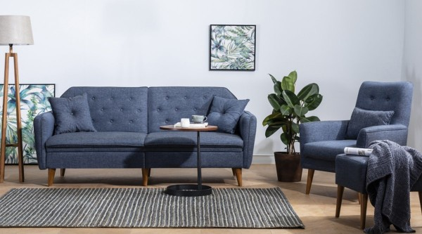 Fi Mina Sofa Set Navy Blue