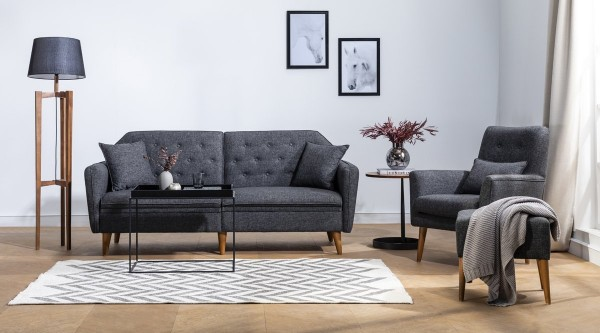 Fi Mina Sofa Set Anthracite