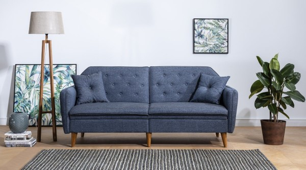 Fi Mina Triple Sofa Navy Blue