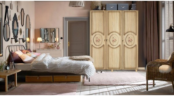 Three Door Wardrobe-420