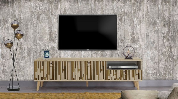 Stella Tv Sehpası Doğal Çubuk