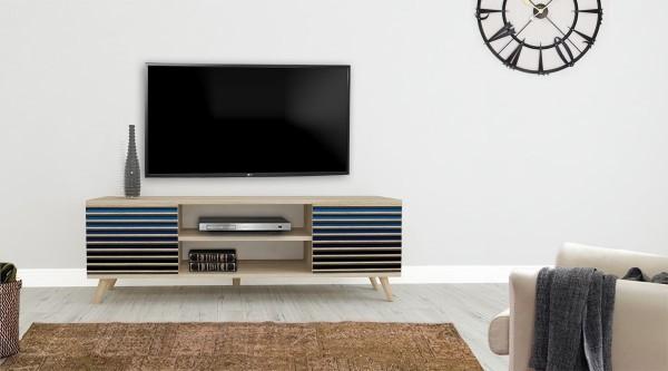 Truva Tv Sehpası Mavi Degrede